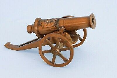 Rare Vintage Brass Model Cigarette Lighter Napoleonic Cannon Waterloo