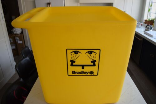 Bradley Safety Waste Water Cart with Casters for On-Site Eyewash S19-399