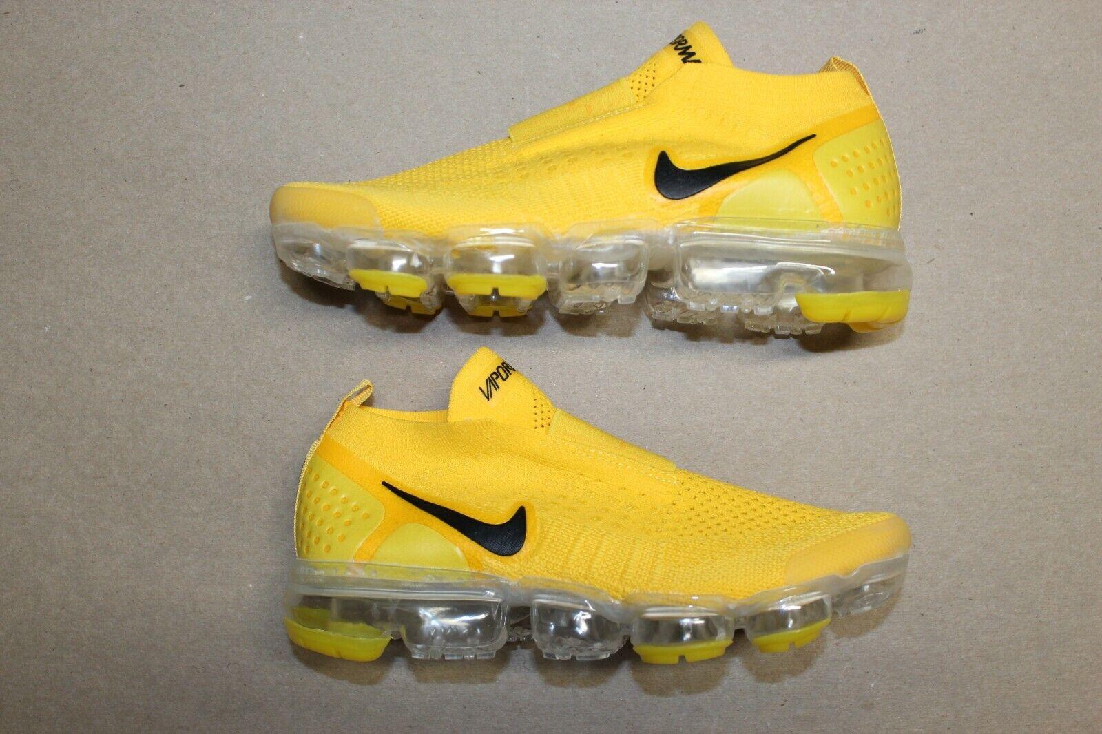 Women's Nike Air Vapormax Flyknit Moc 2 Laceless Size 6.5 Yellow Black