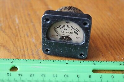 International Instr. Inc Model 163 Ruggedized Ac Volt Panel Meter Gauge Vintage
