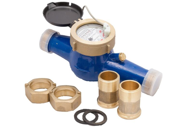 """New PRM 1-1/2"""" NPT Multi-Jet Cold Water Meter With Pulse Output"""