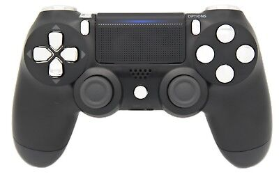 BLACK & SILVER PRO PS4 MODDED RAPID FIRE CONTROLLER - BEST MODS / FAST SHIP!