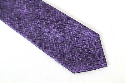 Alfani Men's Battery Solid Skinny Tie Purple With Clip Bar for sale  Shipping to India