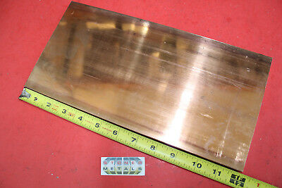 12x 6 C110 Copper Bar 12 Long Solid Flat Bus Bar Mill Stock .5x 6x12 99.9cu