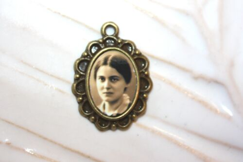 Young St. Edith Stein Rosary Mini-Medal # 2/Choice of Silver/Bronze/Antique Gold