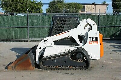 2012 Bobcat T190 Track Loader Erops Low Hours Hand Foot Cntrl Ice Cold Air
