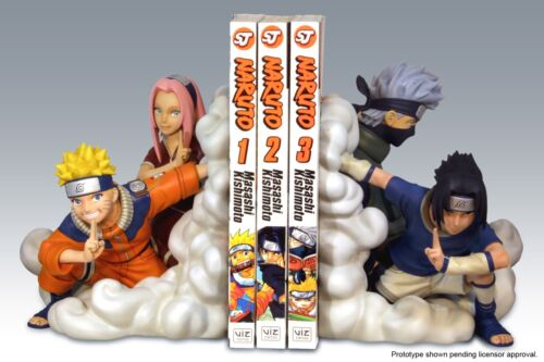 Naruto Team 7 Bookends Resin Statue Number 23 or 24 Of 2000 - Sealed- Low Ed.No.