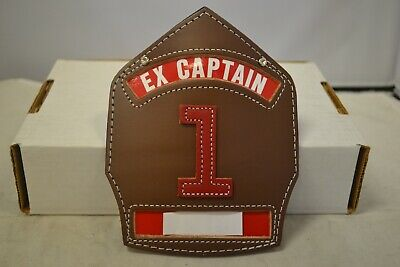 Cairns Ex-captain Brown Leather Helmet Fronts W Red 1