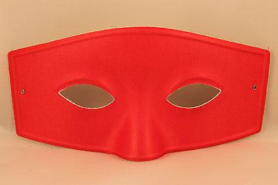 Mens Masquerade Mask Muskateer Costume Halloween Zorro Bandit Red White Black](Muskateer Costume)