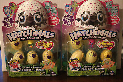 2 - Hatchimals Colleggtibles Season 3 - 4 Pack & Bonus NEW
