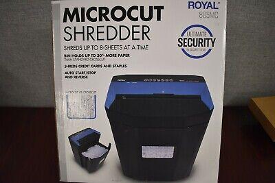 Royal 805mc 8-sheet Microcut Shredder Jam Free Rollers Automatic Start Stop
