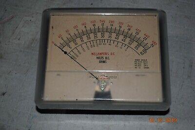 Rare Vintage Large Western Electric Milliamperes Dc Panel Meter Test Equipment