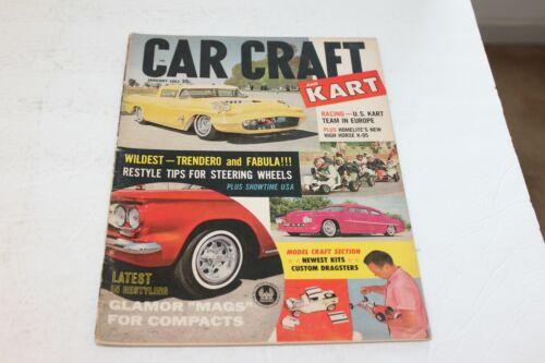 ===VINTAGE CAR CRAFT   MAGAZINE JANUARY 1962