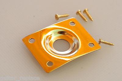 Jack Plate Dorado Gold Curvo Cazoleta Guitarra Eléctrica Les Paul Telecaster