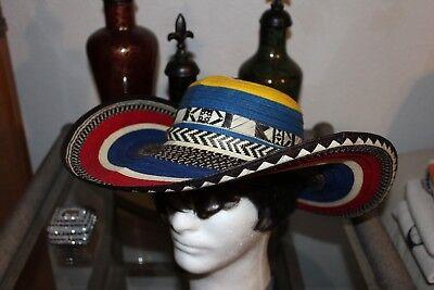 COLOMBIAN HAT~~FINO SOMBRERO VUELTIAO~~COLOMBIA, CUSTOM DESIGN M SIZE - Custom Sombrero