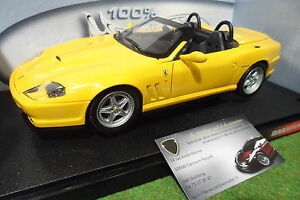 ferrari 550 barchetta pininfarina cabriolet jaune 1 18 hot wheels 29756 voiture ebay. Black Bedroom Furniture Sets. Home Design Ideas