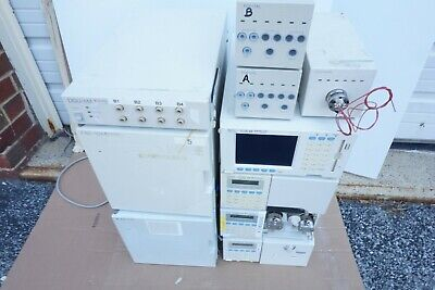 Shimadzu Spd-10av Vp Lc-10 Ad Pump Scl-10a Dgu-14a Hplc System Uv Vis Detector