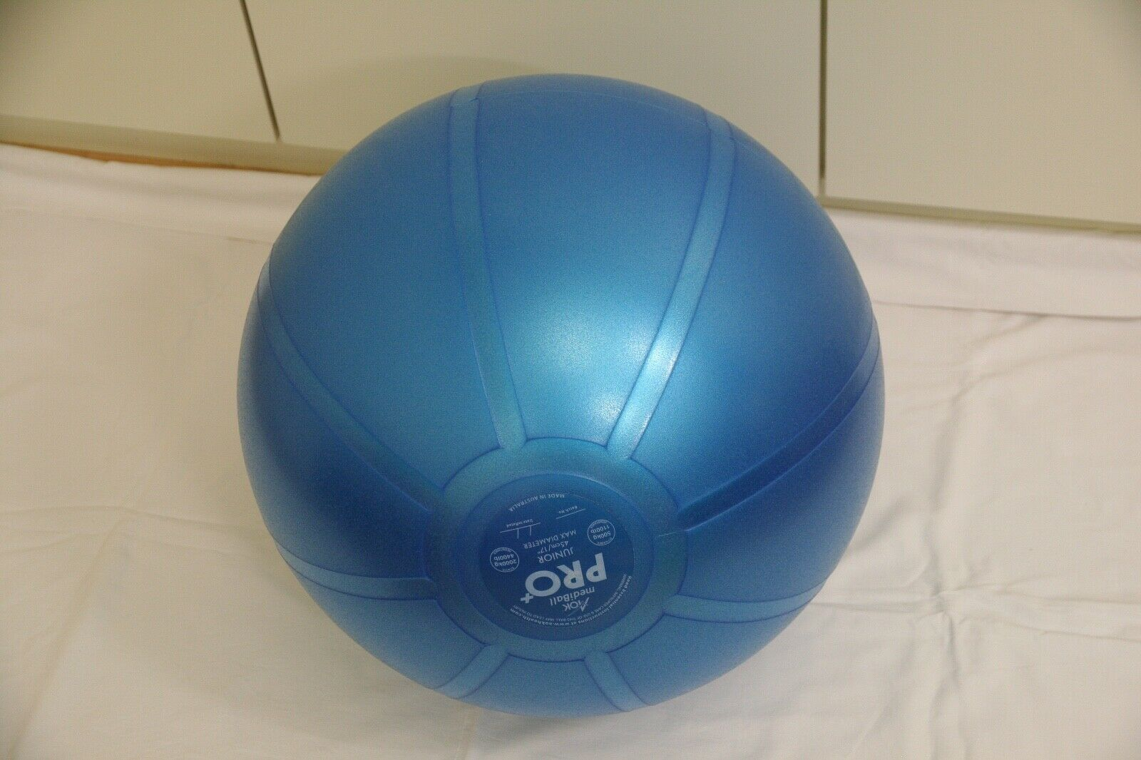 Gymnastikball 45 cm blau AOK MediBall PRO+ Junior 500kg/2000kg