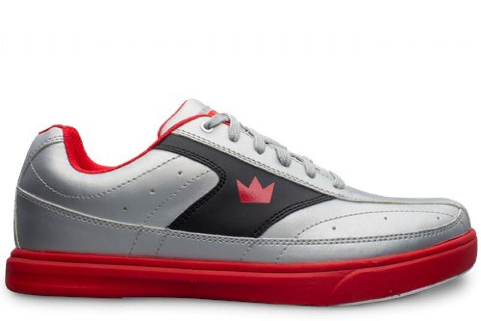 Brunswick Renegade Flash - Silver/Red - Bowling Shoes Men's