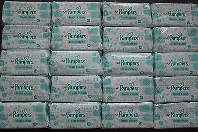 30 x 64, insgesamt 1920 Pflegetücher / Feuchttücher Pampers fresh clean