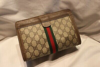 GUCCI Vintage PVC leather Cluch bag Accessory Collection Made in Italy