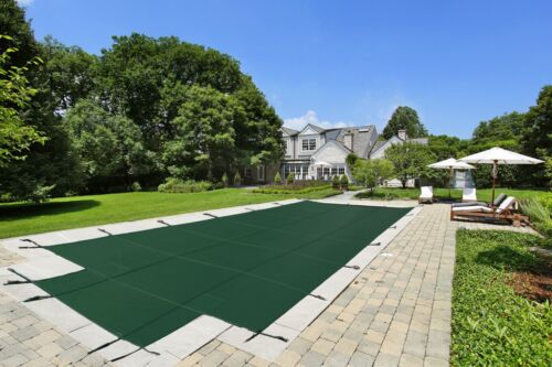 LinerWorld - In Ground Safety Pool Cover - Rectangle w/ optional Center End Step