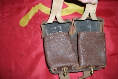 MOSIN NAGANT AMMO POUCH MADE FROM TAN LEATHER