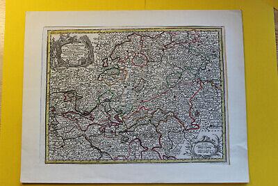 Old Map Copperplate Um 1700? Mappa Circuli Rhenani M.Seutter Hasso Cassel
