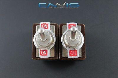 2 Pcs Toggle Switch Dpdt On-on Toggle 3 Amp 250v 5 Amp 125v Ac 6 Pin Ec-1501