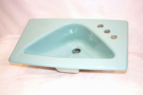Vintage American Standard Bathroom Sink Mid Century Rare Sky Blue Triangle