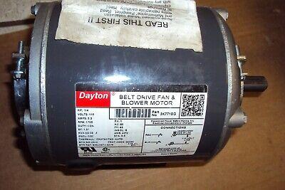 Dayton 3k771 Motor 14 Hp Split-phase 1725 Rpm Belt Drive 48 Frame Hvacr App