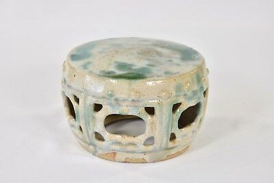 Antique Chinese Ceramic / Pottery Drum / small Garden Seat / - Chinese Drum