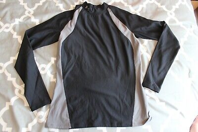 NEW Under Armour Compression Top Tee T L LARGE Long Sleeve Cold Gear Mock