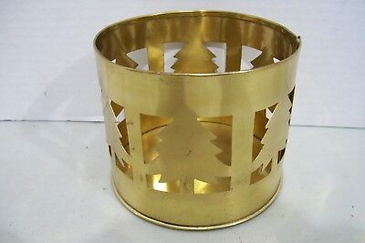 Indian Tea Light Brass Candle Holder Christmas Tree Decorated 3.5