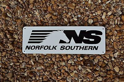 NORFOLK SOUTHERN RAILROAD SIGN Train Railway Conrail Locomotive Ad Logo FreeShip