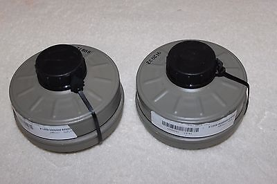 2  New Sealed Genuine Military Premium Israeli Nato Nbc 40Mm Gas Mask Filter