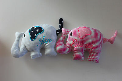 Kissen mit Namen,Elefantenkissen,Wunschname,Taufe Geburt,Geschenk