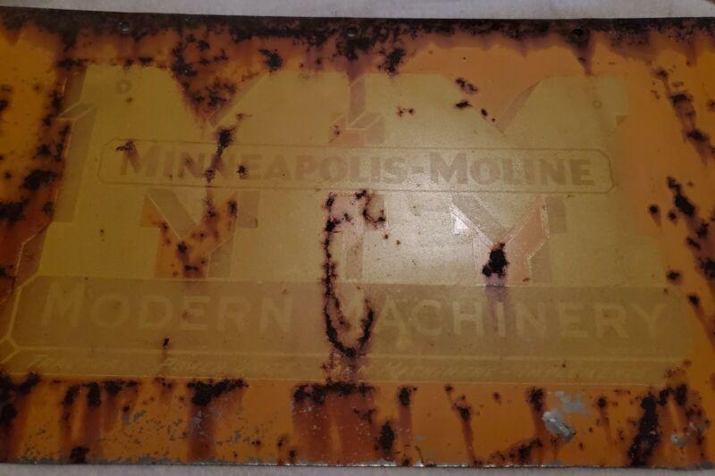 VINTAGE MINNEAPOLIS MOLINE ADVERTISING ~ WALL HANGER ~ BARN ~ SHOP ~ MANCAVE