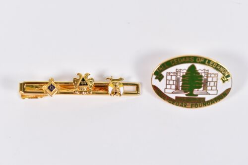 Vintage Masonic 32nd Degree Scottish Rite Tie Clip Tall Cedars Lebanon PA Pin