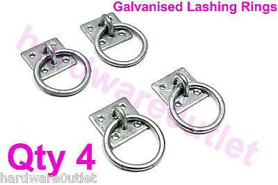 4 x Galvanised Tie Ring Horse Stable Haynet Lashing Ring Equestrian 5105G