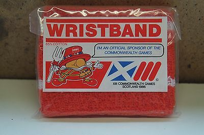 50 x 1986 Scotland commonwealth games sweat bands new sealed 31 years old!!