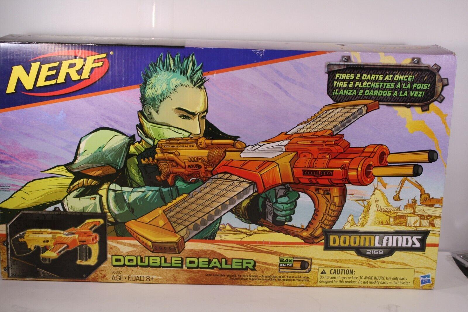 Nerf Doomlands 2169 Double Dealer Blaster, NEW IN OPEN BOX