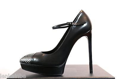 YSL Yves Saint Laurent Maryjane Janis Studded Nose Pumps Shoes 41 11 $845