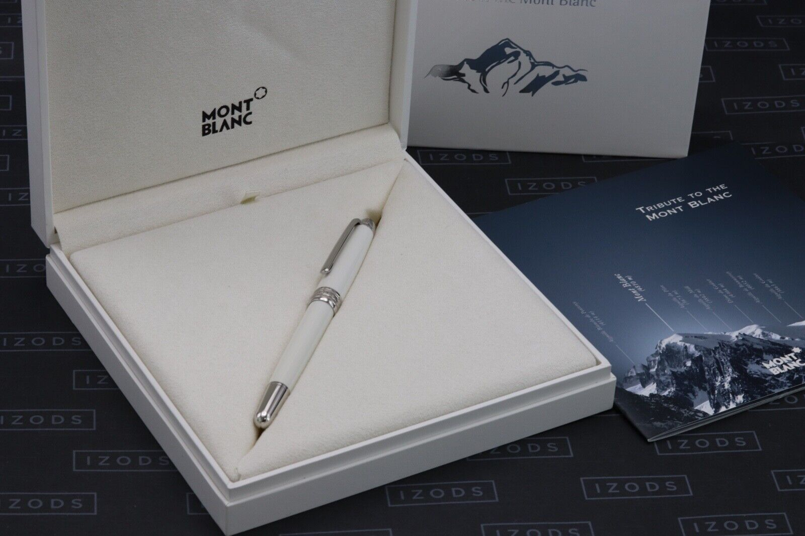 Montblanc Meisterstuck 163 Classique Tribute White Solitaire Rollerball Pen 8
