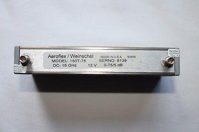Aeroflex Weinschel Programmable Step Attenuator 18 Ghz 5 Db Step 150t-75 6812