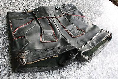 Ultimativ schöne vintage GlattLederhose für schlanke Frauen in Gr. 34 - 36 !