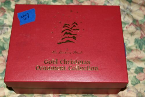 Danbury Mint 2004 Gold Christmas Ornament Collection Set of 12 with Box