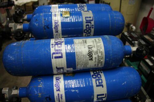 DRAGER DOT-E11194 4500 PSI SCBA TANK BOTTLE WITH VALVE 3/04