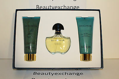 - Shalimar Light By Guerlain Perfume EDT 1.7 Spray Body Lotion Veil Shower Gel Set