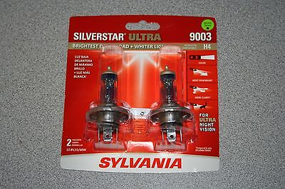 Sylvania Silverstar ULTRA 9003/H4 Pair Set High Performance Headlight Bulbs NEW ()